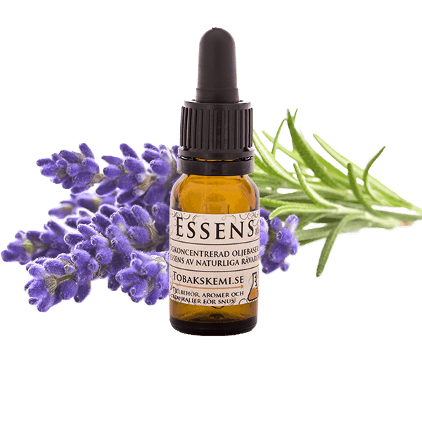 Högkoncentrerad Lavendel essens för lössnus och portionssnus från Tobakskemi.
