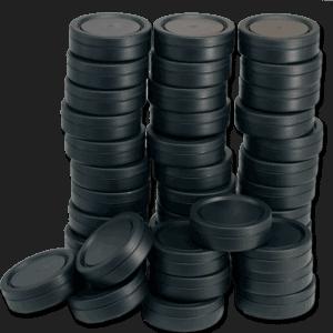Svarta tomdosor i plast för eget snus - Beställ från Tobakskemi.se