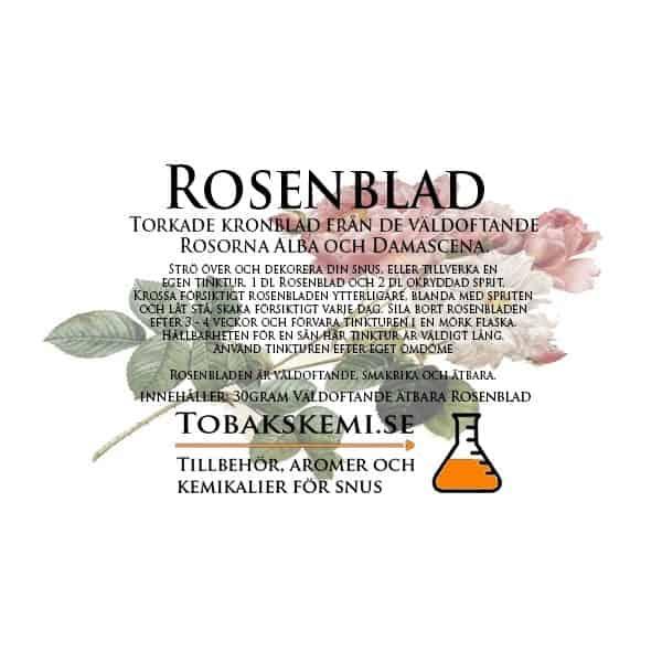 Våra rosenblad kommer från de väldoftande Rosorna Alba och Damascena.