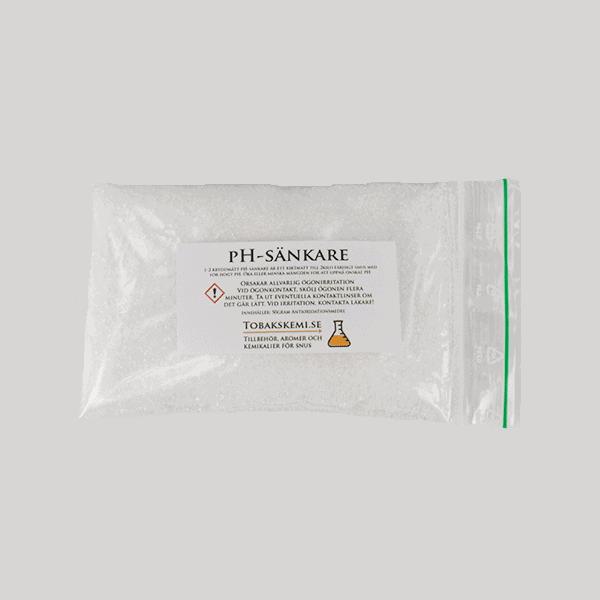 pH-sänkare, får du för högt pH i din snus är detta hjälpen. Köp på Tobakskemi.se