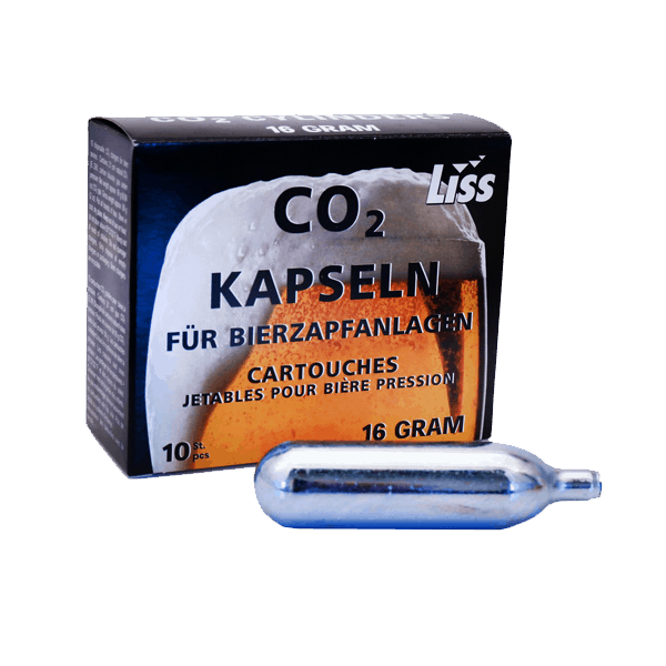 Co2 – 16 gram kolsyrepatroner 10 pack